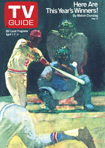 Rare lucy ball berle godfrey caesar tv guide #3 april 17 1953.