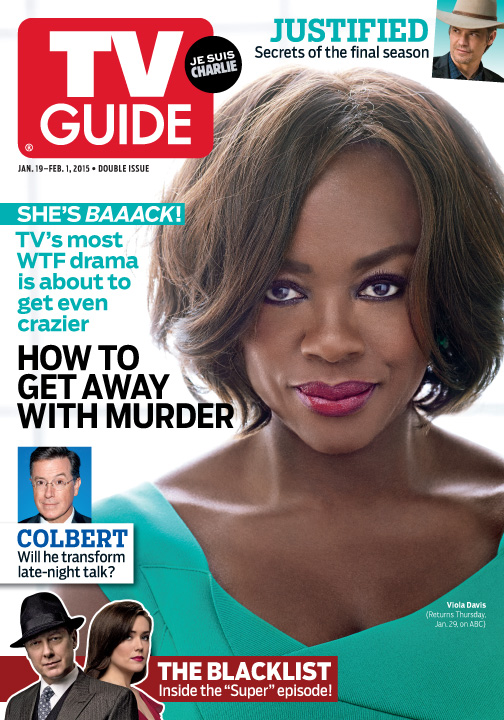 TV Guide Magazine (January 19/January 26, 2015): Viola Davis of How to Get Away With Murder