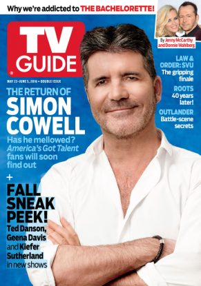 Cover photograph of Simon Cowell by Art Streiber/NBC