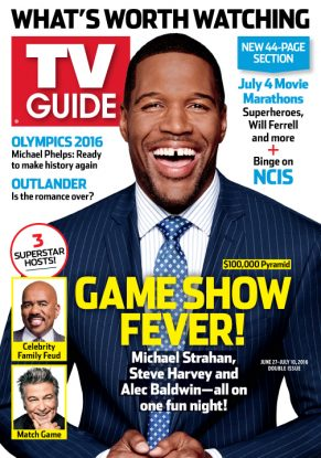 Cover photograph of Michael Strahan by Steve Erie