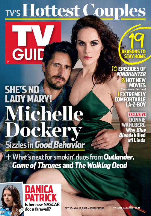 tv guide magazine. tv\u0027s hottest couples: letty and javier of \u0027good behavior\u0027 come clean tv guide magazine u