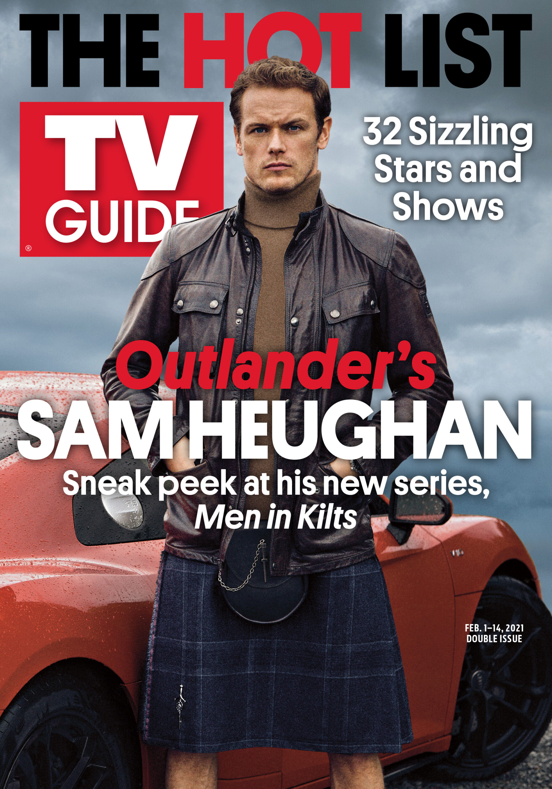 TV Guide - Outlander's Sam Hueghan Cover - February 1, 2021