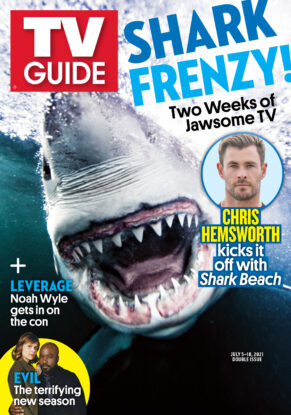 TV Guide - Cover Shark Frenzy - July 1, 2021